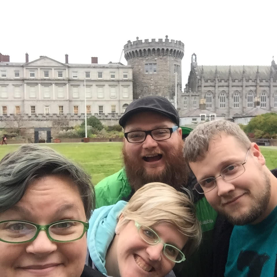 Leah, Wendy, TJ, and Rev at Dublin Castle