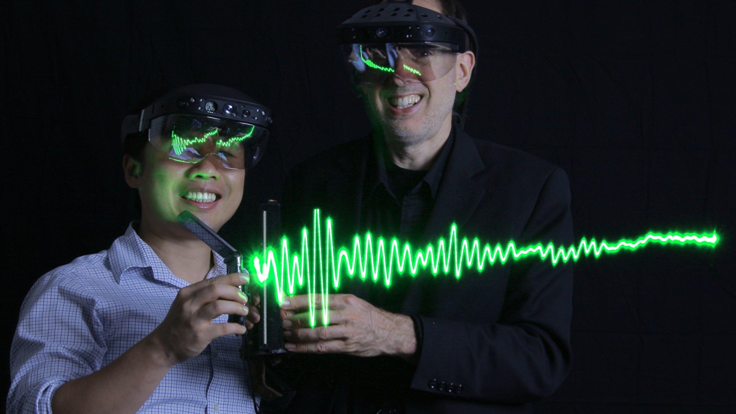 Raymond Lo and Steve Mann with Metavision eyeglasses.