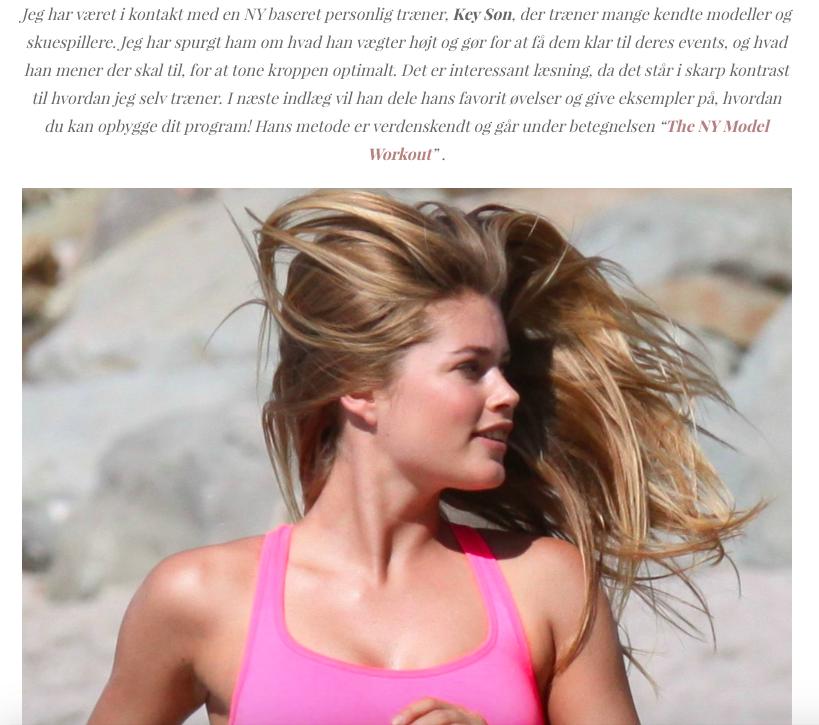 Danica Chloe, The New York Model Workout, 2014