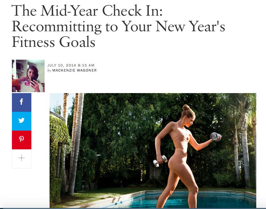 Vogue, Fitness Goals, 2014