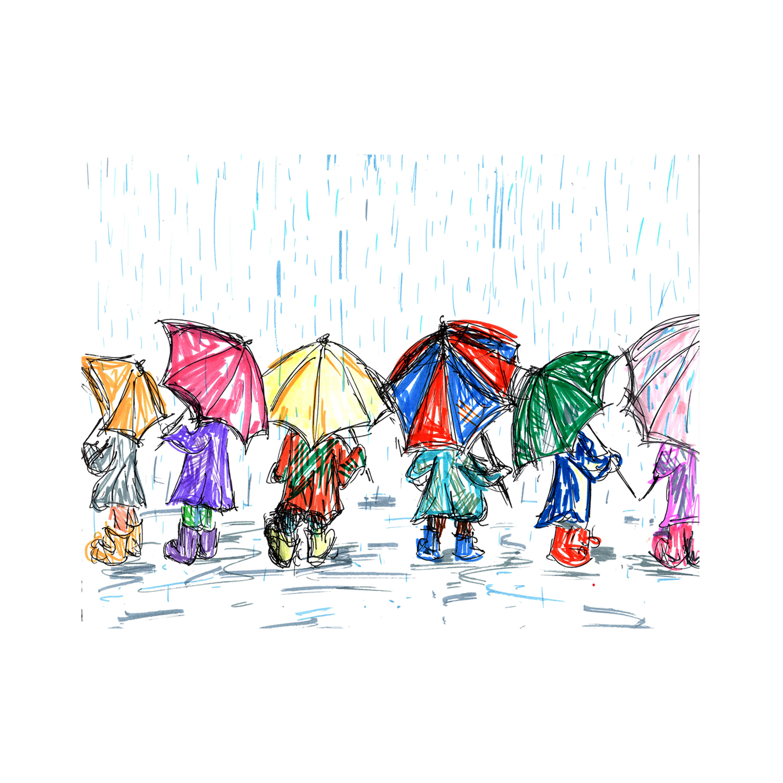 The Umbrella Kids Sketch