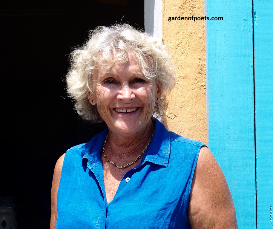 Sarah Fuller of  Sarah Fuller Pottery , Antigua, outside her studio in Dutchman's Bay. Photo by Jennifer Ritchie
