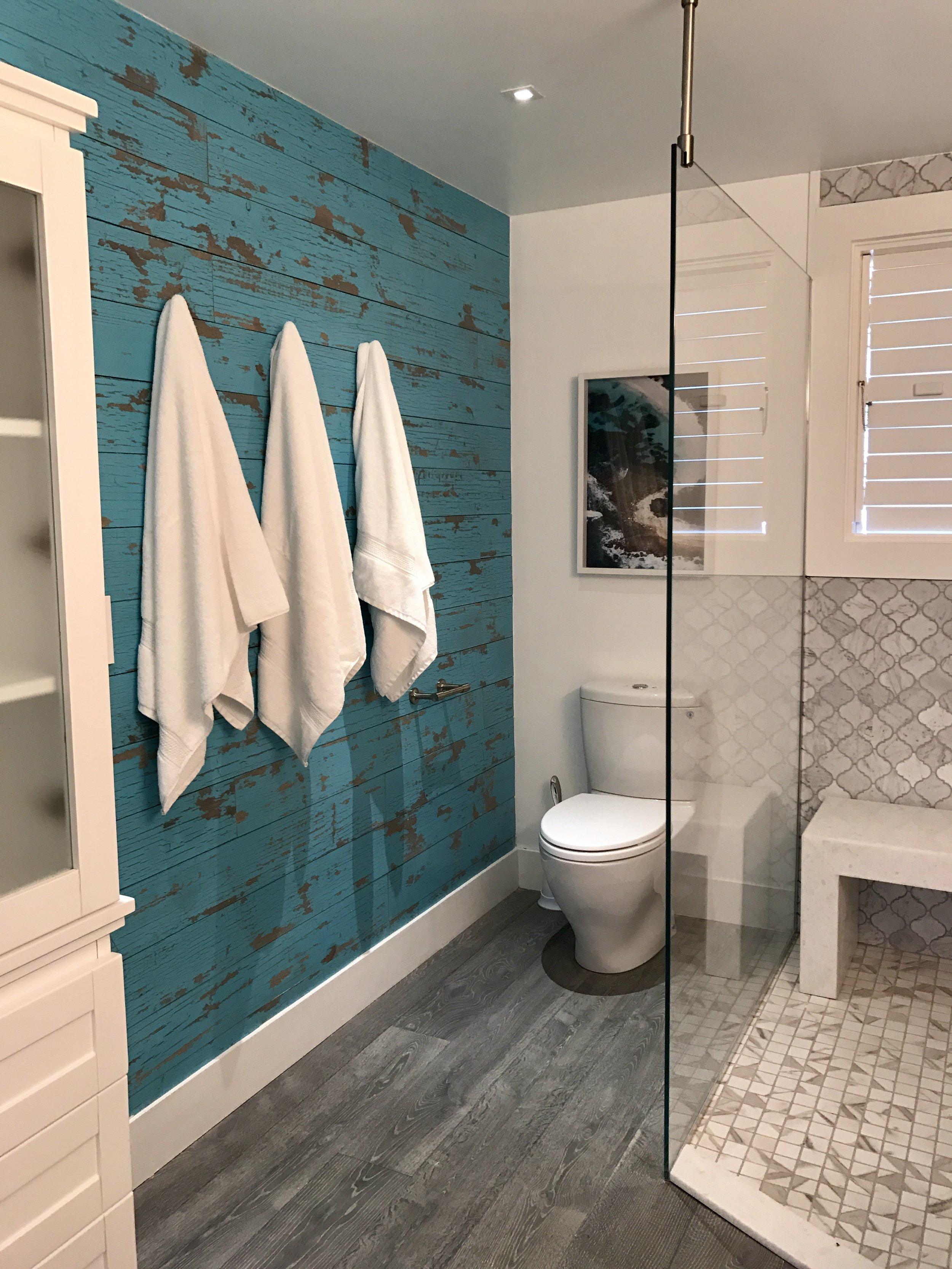 Bathroom designed and styled by Charmaine B Werth. Photo courtesy of Charmaine B Werth