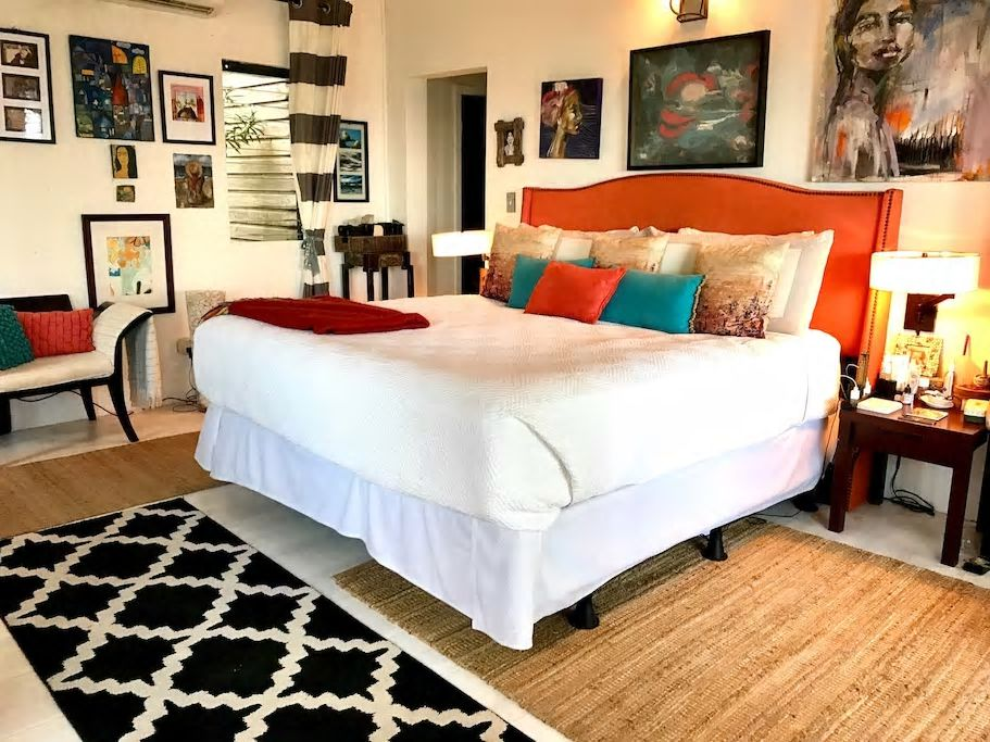 Bedroom in the home of designer Charmaine B. Werth