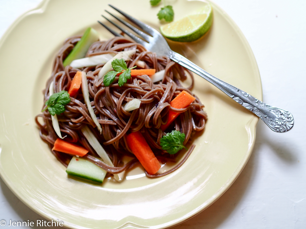 Buckwheat noodles for one
