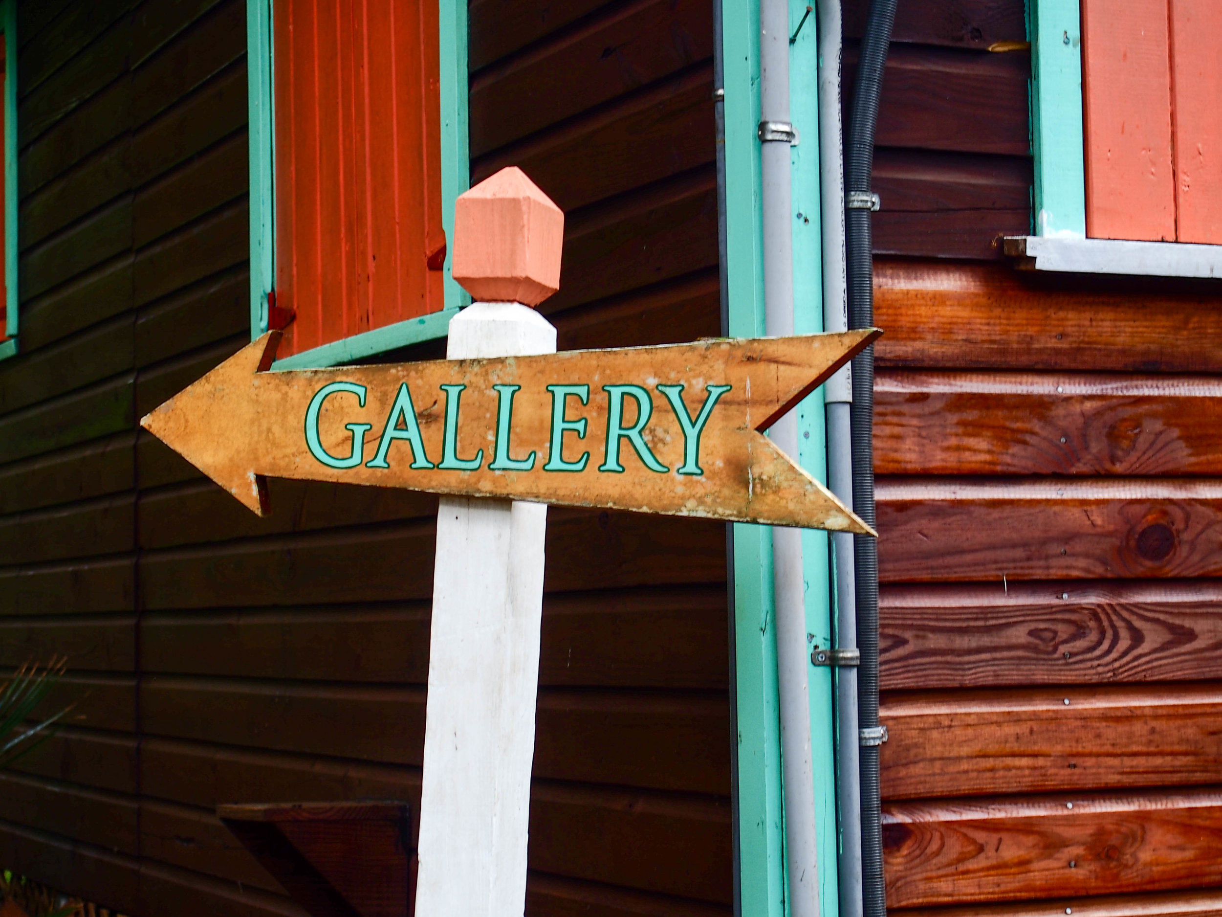Fig Tree Gallery, Antigua. Home to Sallie Harker. Photo by Jennie Ritchie.