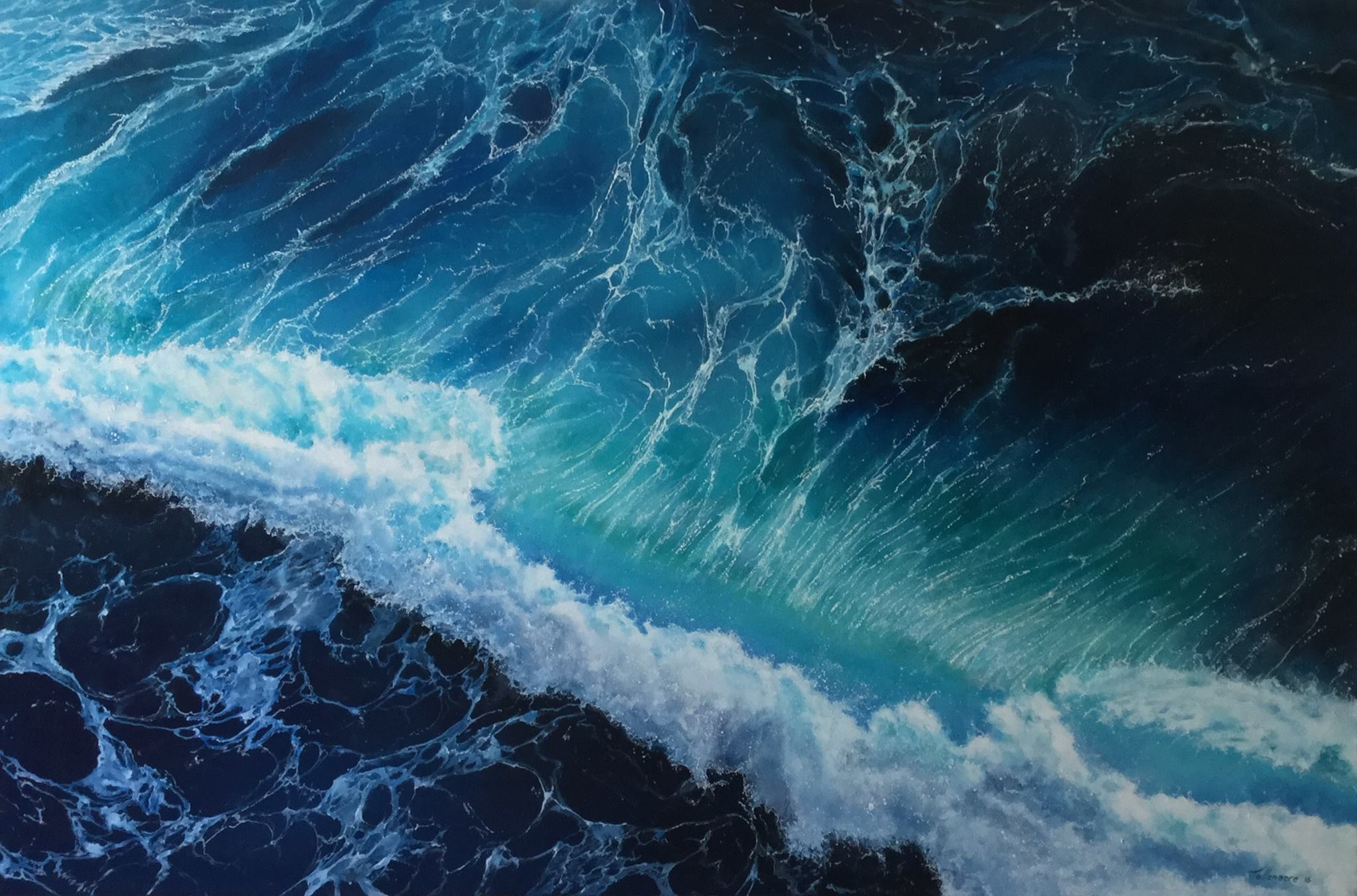 Wave 72. Oil on Canvas. Photo courtesy of Rikki Tollenaere.