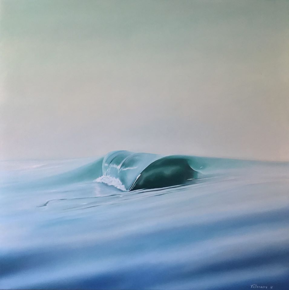 Wave 73. Oil on canvas. Photo courtesy of Rikki Tollenaere.