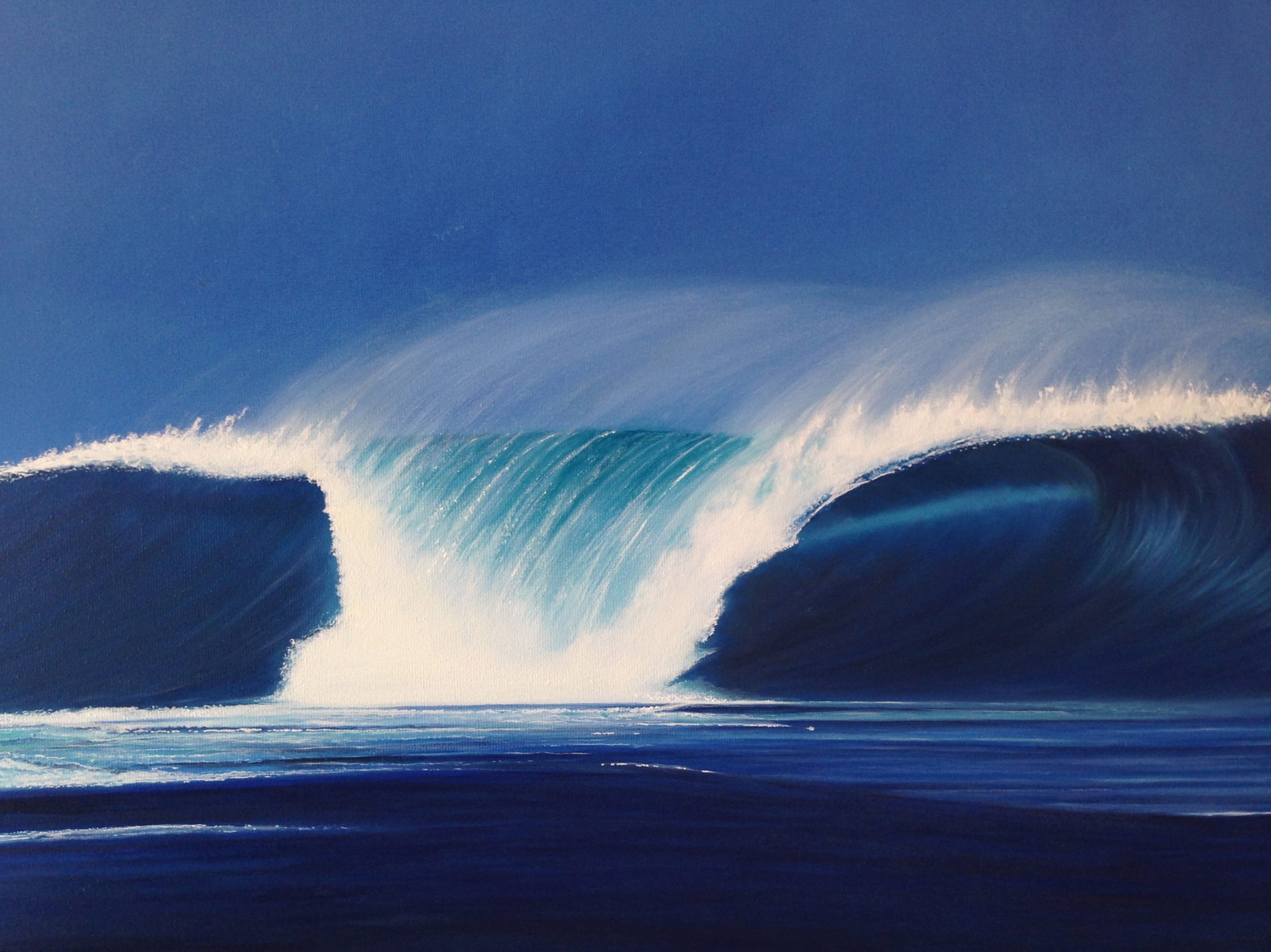 Wave. Oil on canvas. Photo courtesy of Rikki Tollenaere.