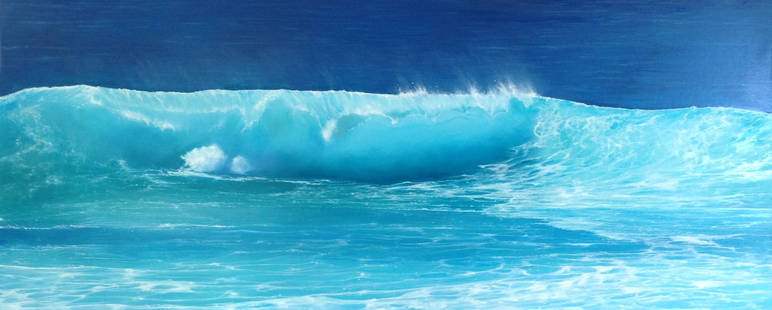 Wave painting. Oil on canvas. Photo courtesy of Rikki Tollenaere.