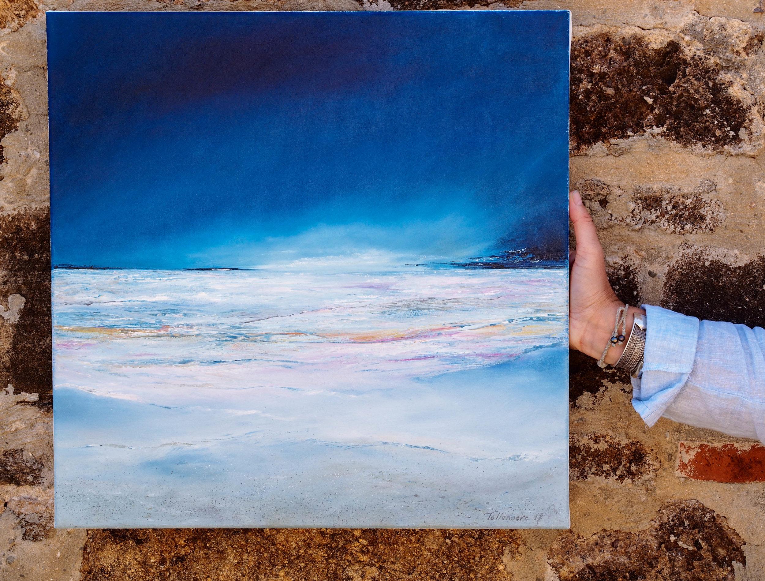 Seascape by Rikki Tollenaere. Photo by Jennie Ritchie.