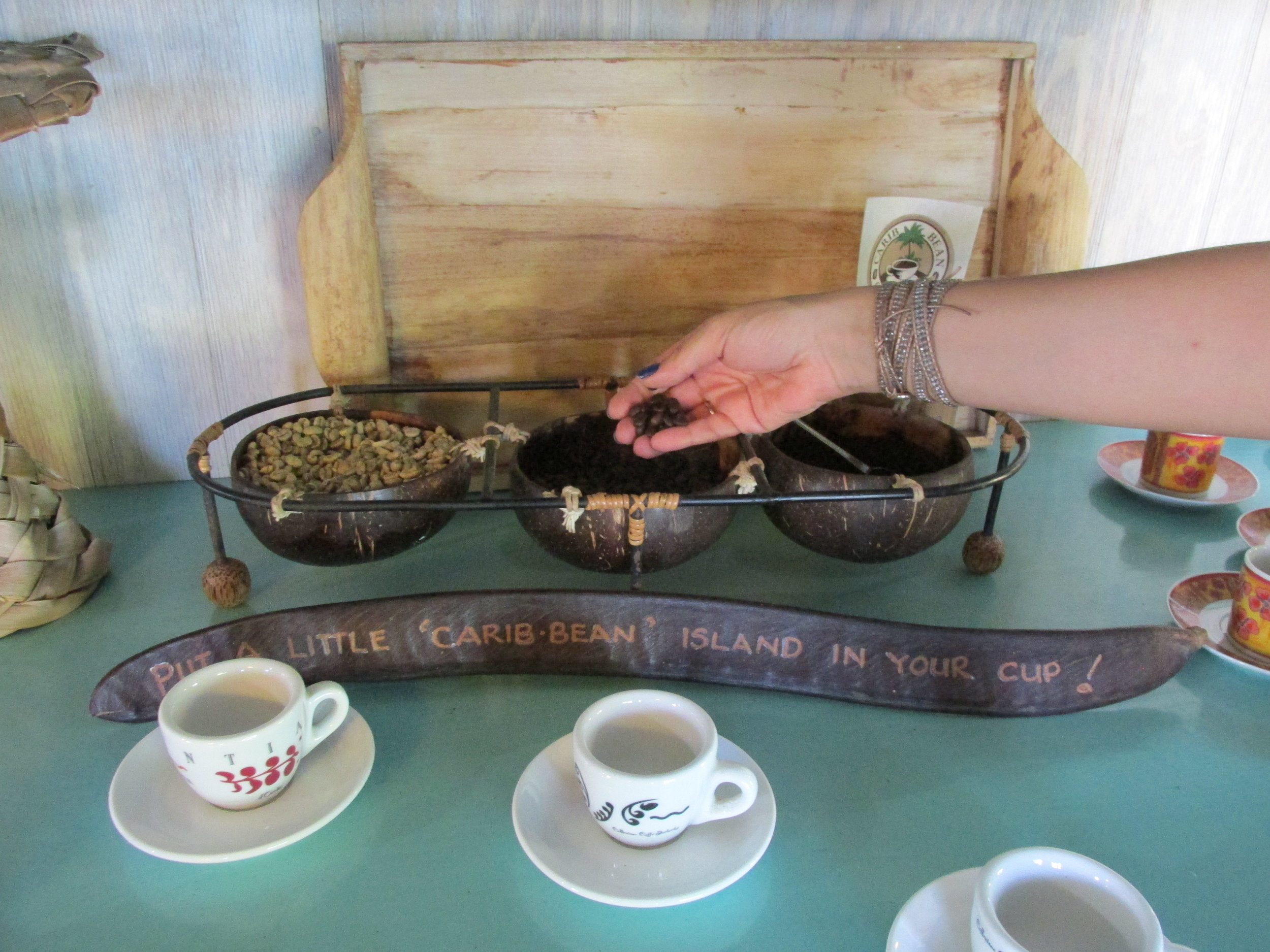 Carib Bean coffee roasters. Photo by Jennie Ritchie.