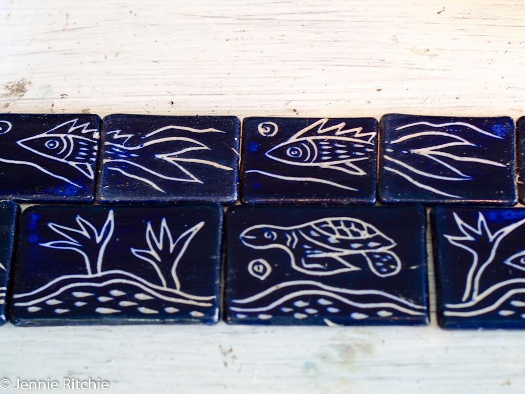 Tiles handmade by Nancy Nicholson. Photo by Jennie Ritchie