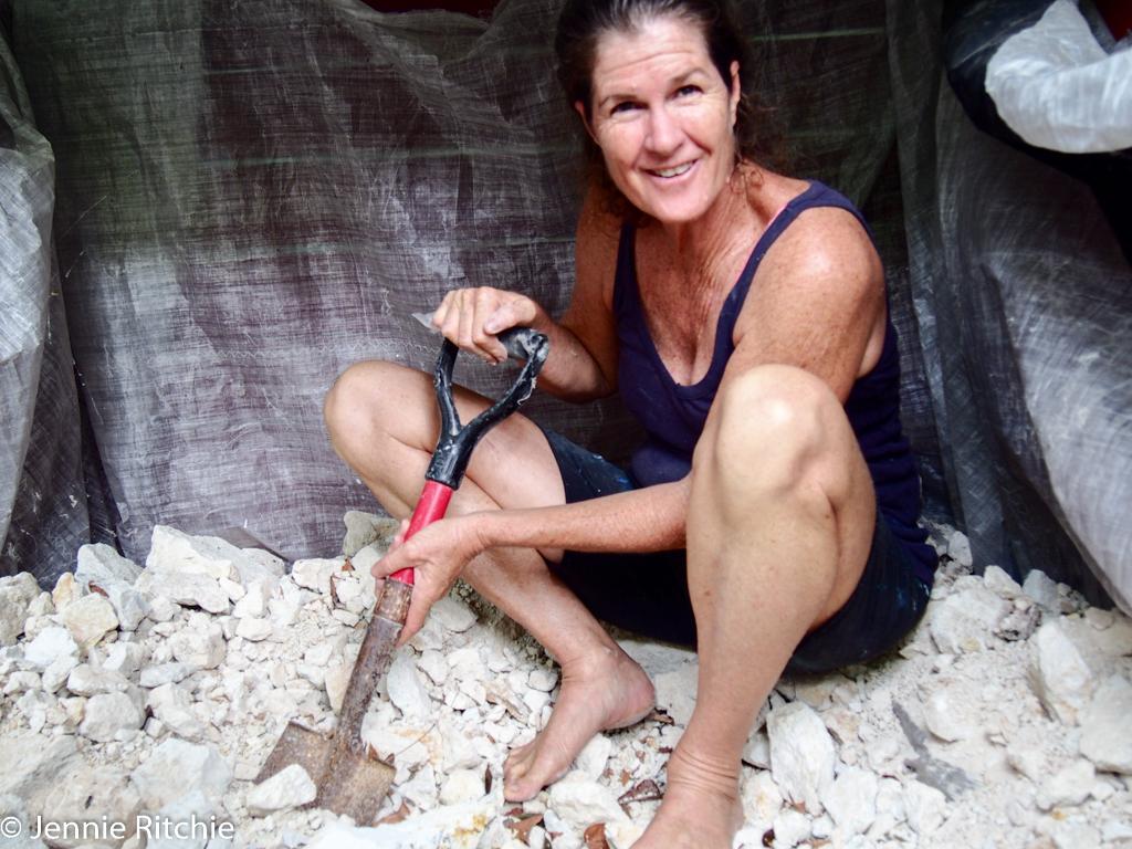 Nancy Nicholson sources clay for her ceramics. Photo by Jennie Ritchie.