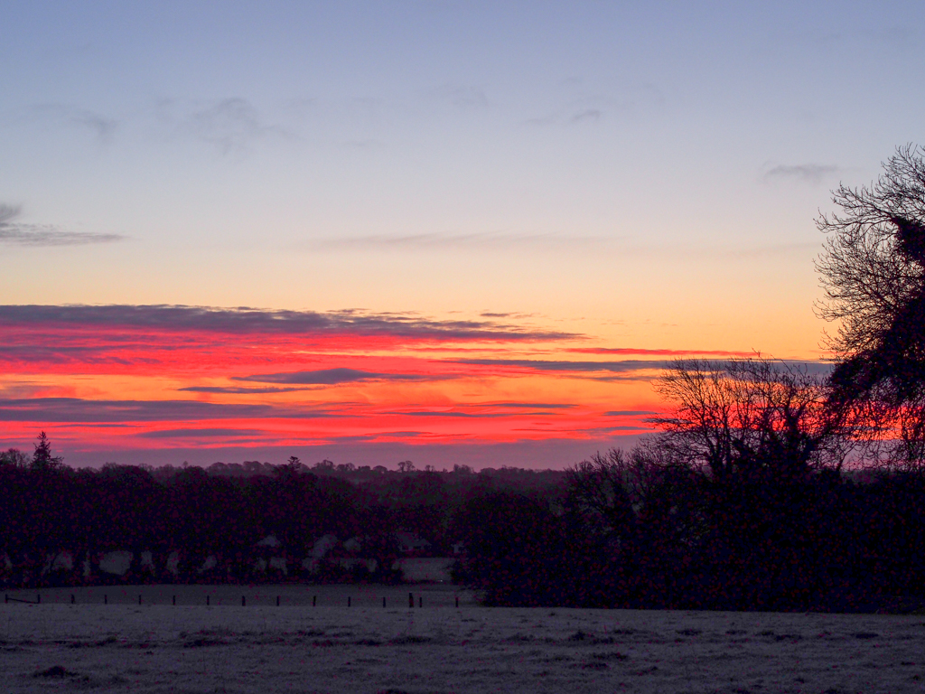 Dawn over the fields
