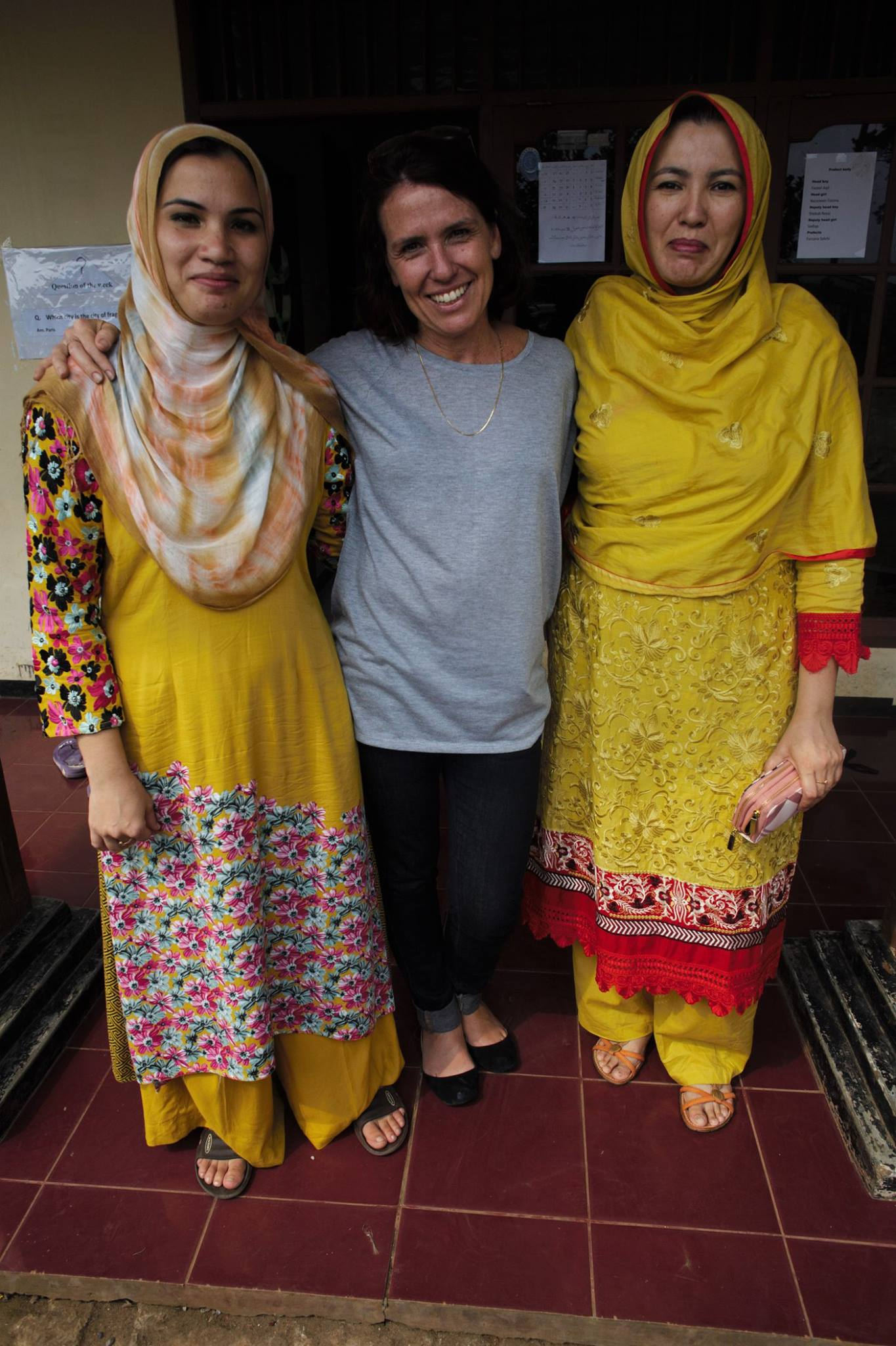 Ever supportive and lovely woman, Melanie finally visited to CRLC. The teachers and everyone loved you.