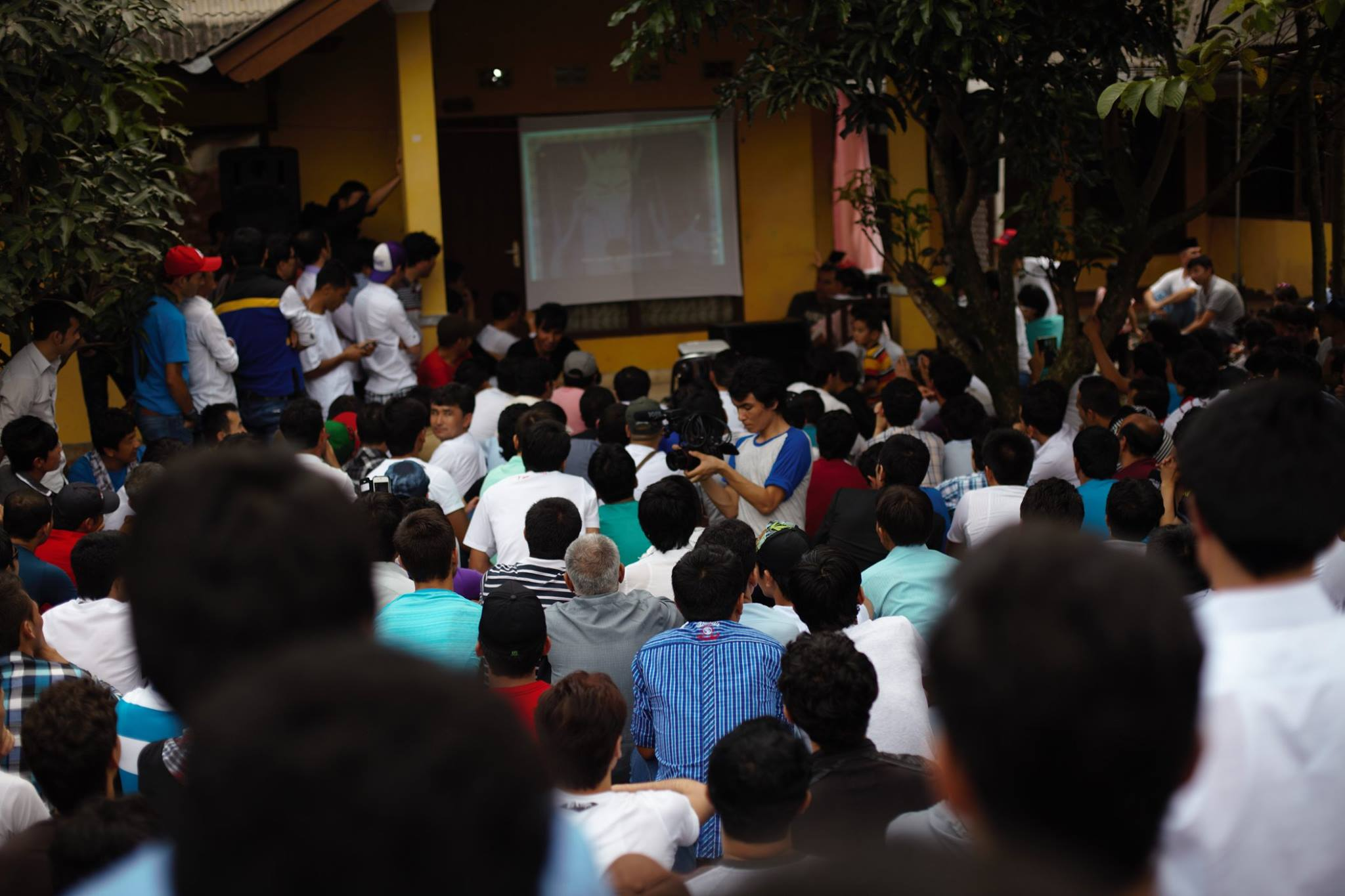 Refugees' first gathering in Cisarua.