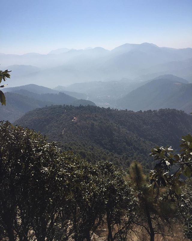 The many layers of Kathmandu.