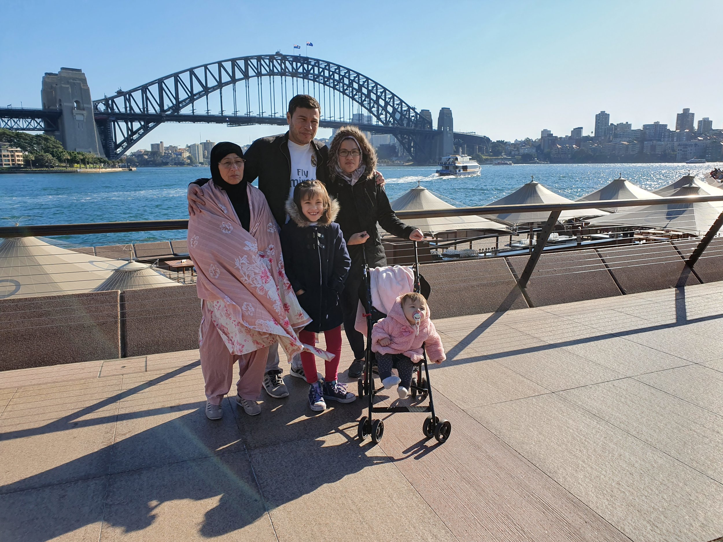 A classic tourist shot at the Sydney Harbor Bridge.jpg