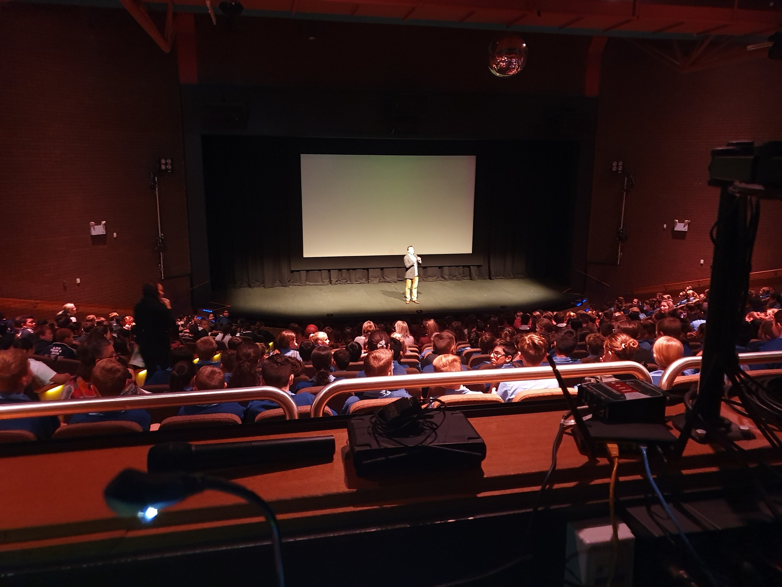 Jolyon introducing the film at Griffith Regional Theatre 2.jpg
