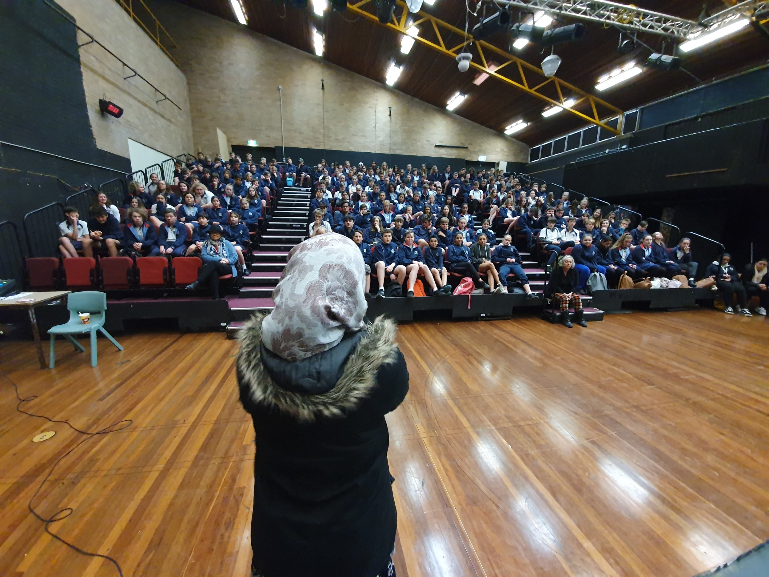 Nagina held this crowd of year 8's silent for 45 minutes with her stories from living as a refugee.jpg