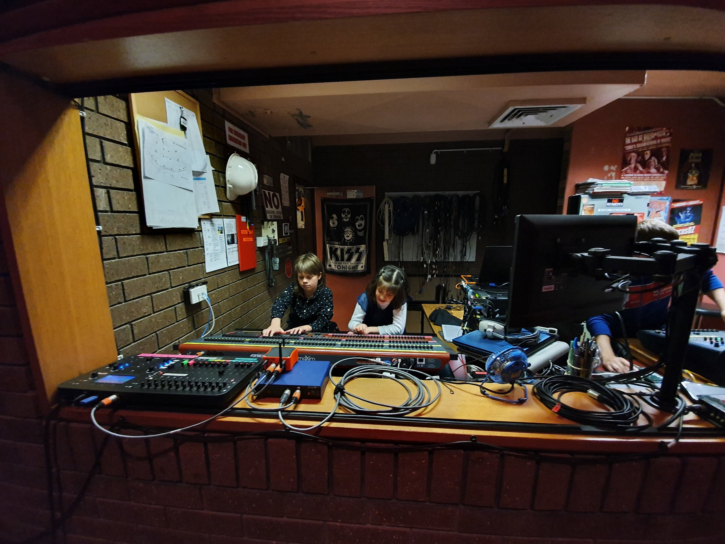 Our two sound engineers hard at work at the Griffith Regional Theatre.jpg