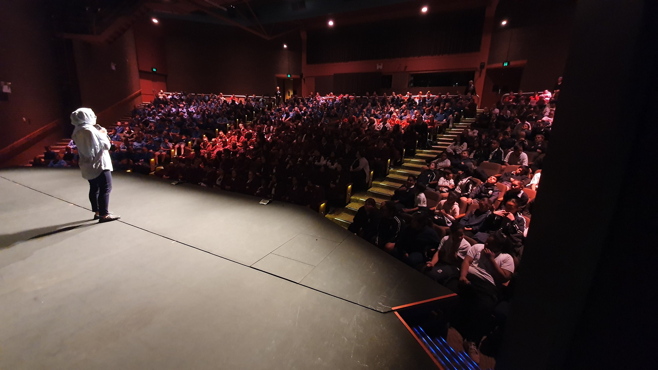 The were 523 students filling every seat at the Griffith Regional Theatre and Nagina had them listening to every word.jpg