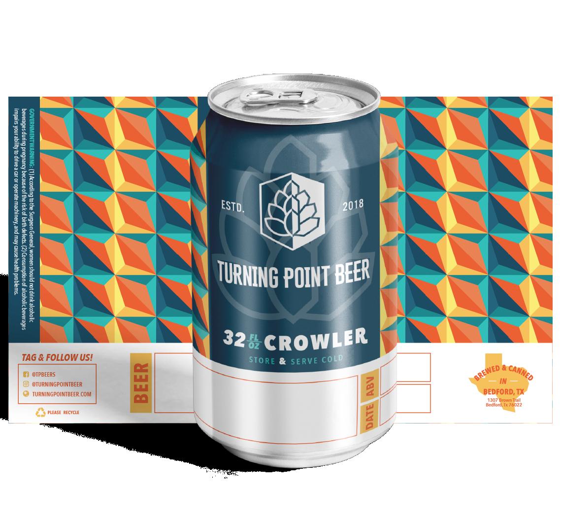 32 oz. Crowler Design