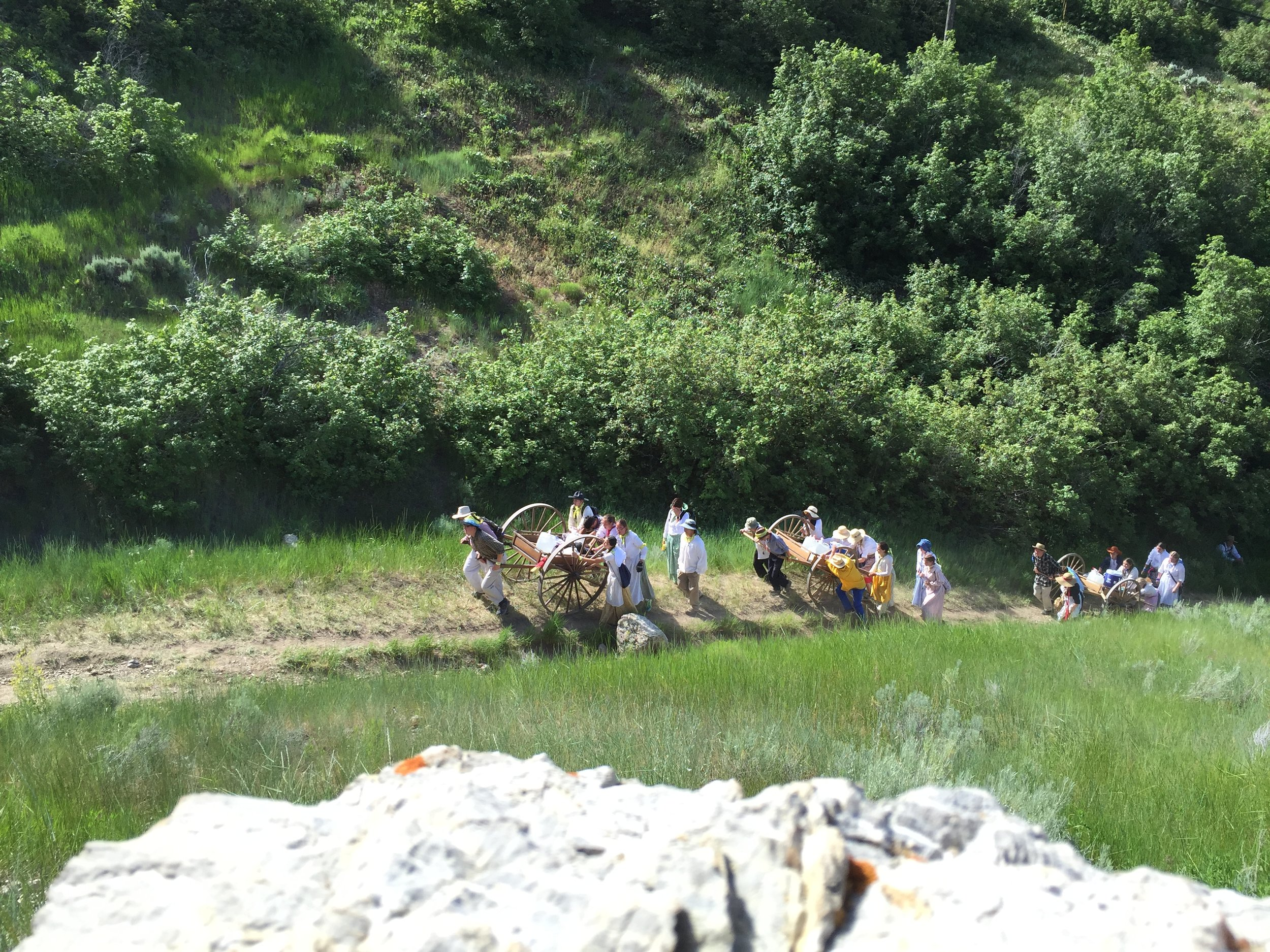 Handcart day trek  One of the most popular and rewarding experiences the Park offers is our Day Trek. Day Trekkers will begin early, end in the evening, and have lots of fun in between.