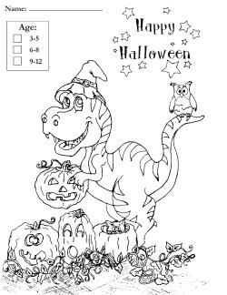 Little Haunts Coloring Contest picture