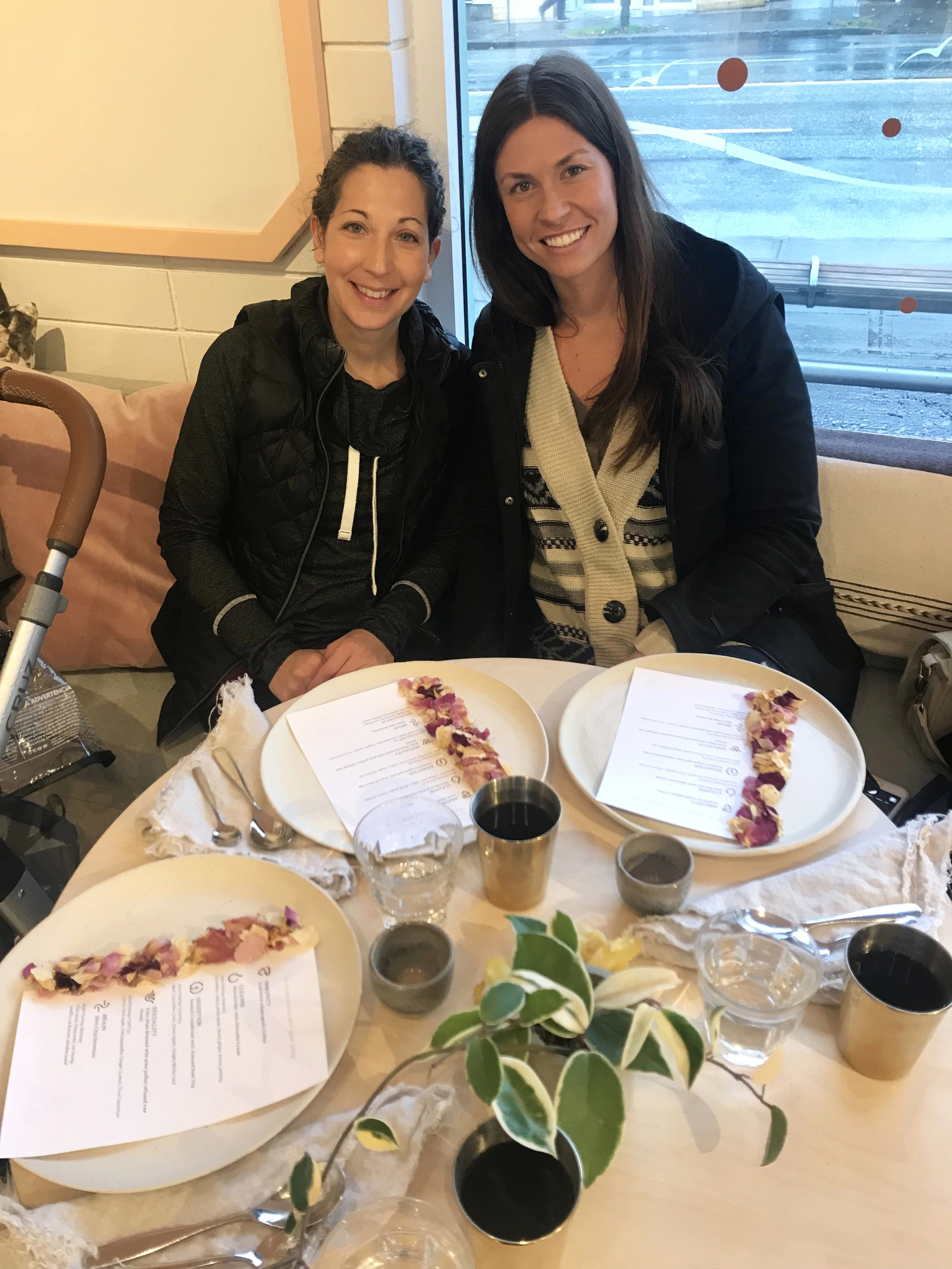 Tara and I enjoying a special live breakfast filled with adaptogens