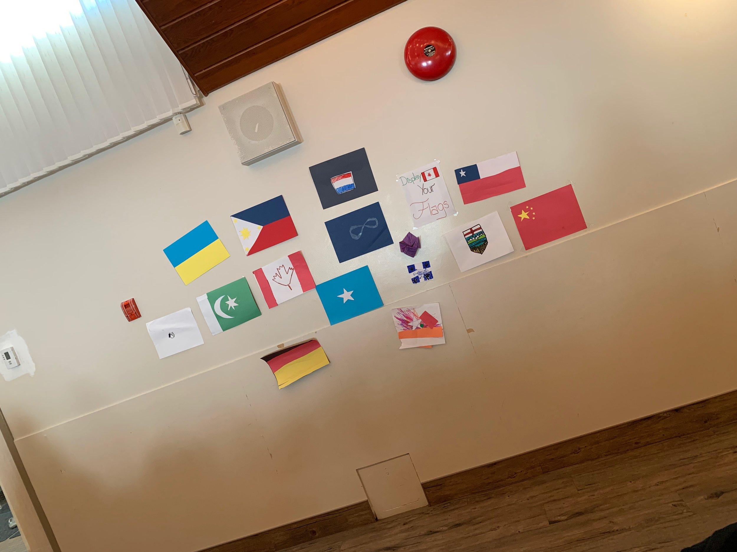 We encouraged people to create flags to showcase their nationalities.