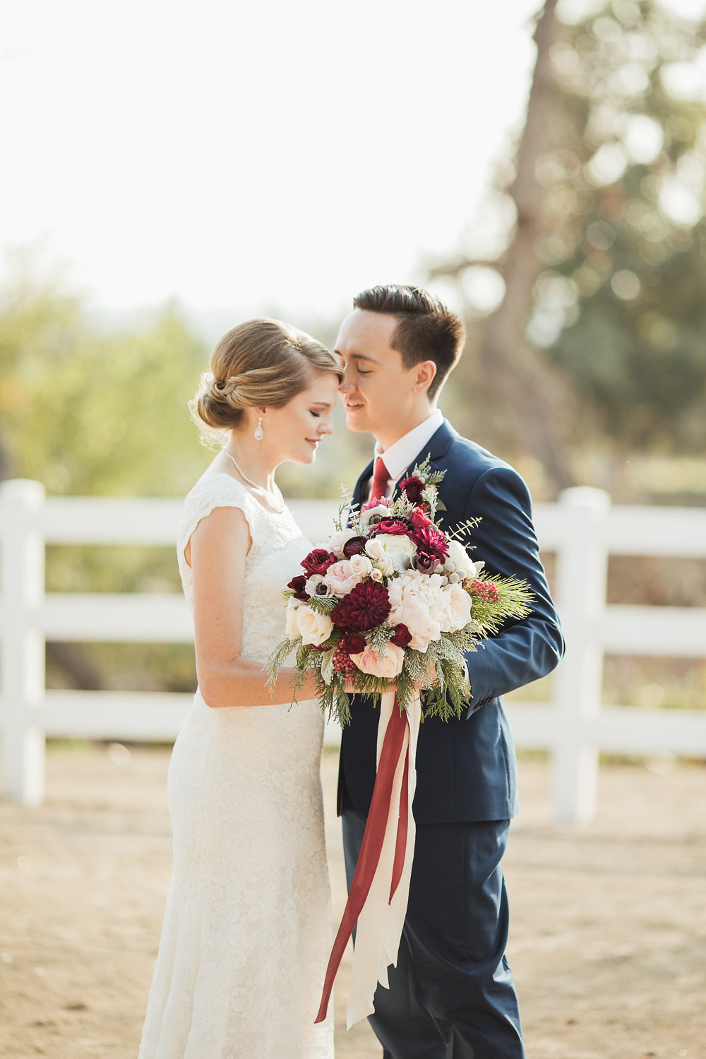 Amy and Gabriel - Winter Wedding in Chino Hills Ca.- Royal Bee Florals and Events