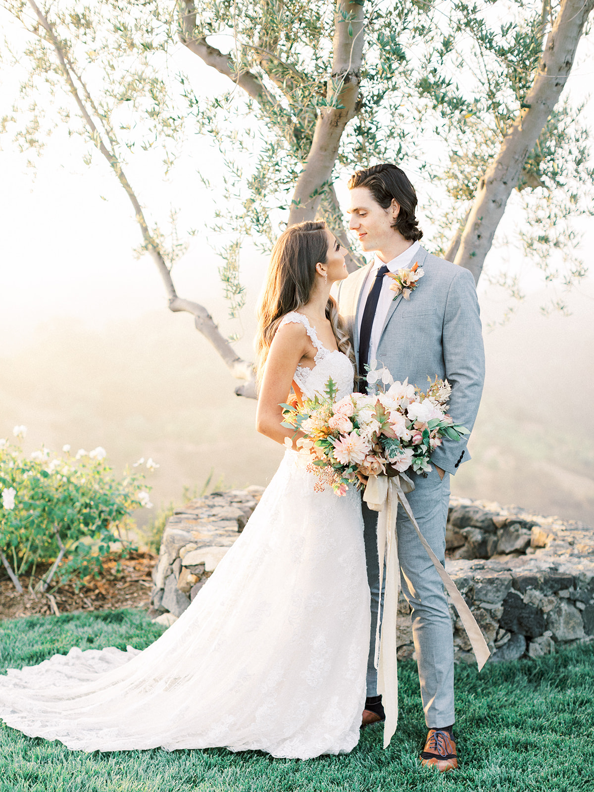 Stonewall Ranch Malibu Elopement - Lush fall inspired bridal bouquet- Royal Bee Florals and Events