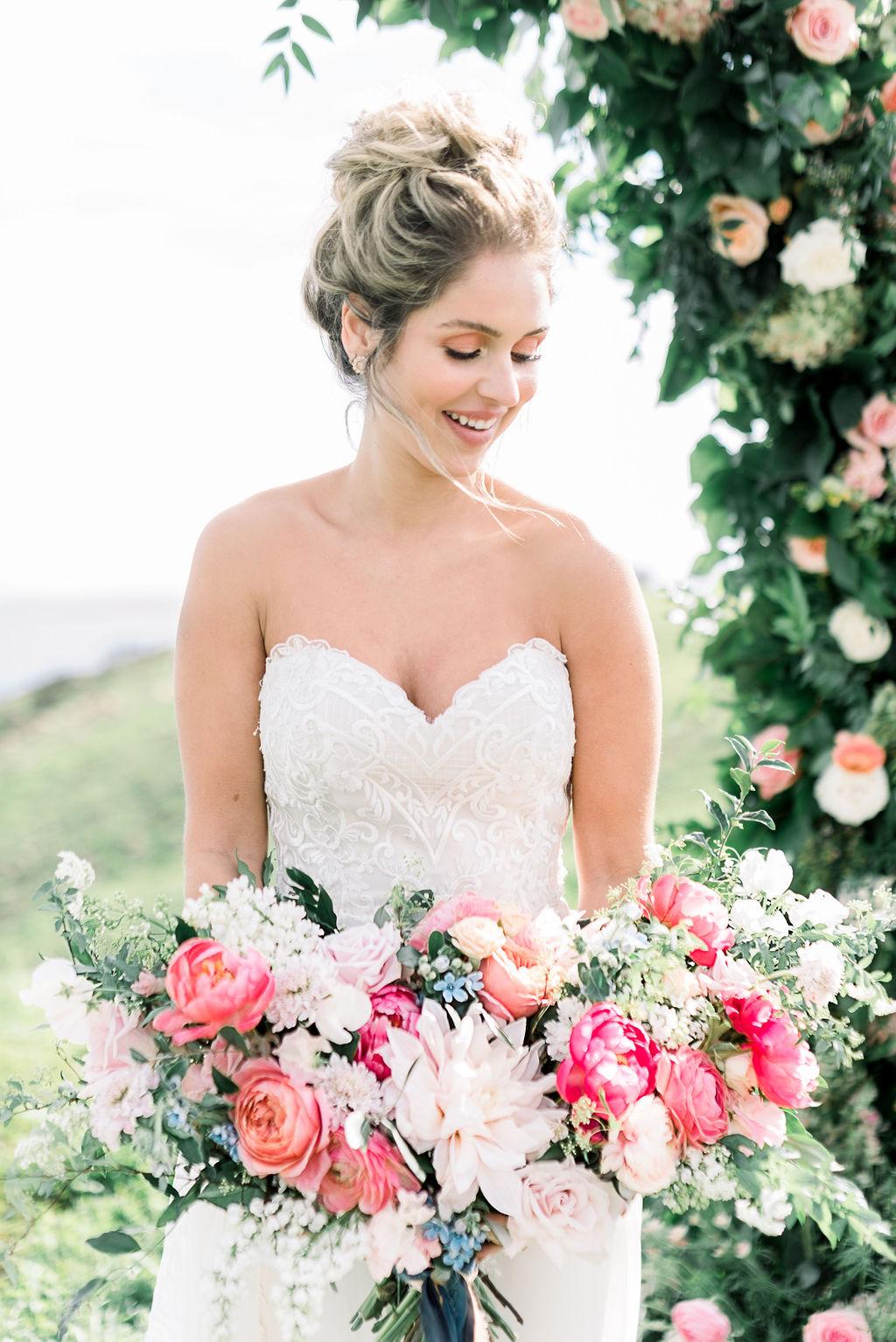Royal Bee Flower Co. Bridal Bouquet at Deer Creek Ridge, Malibu