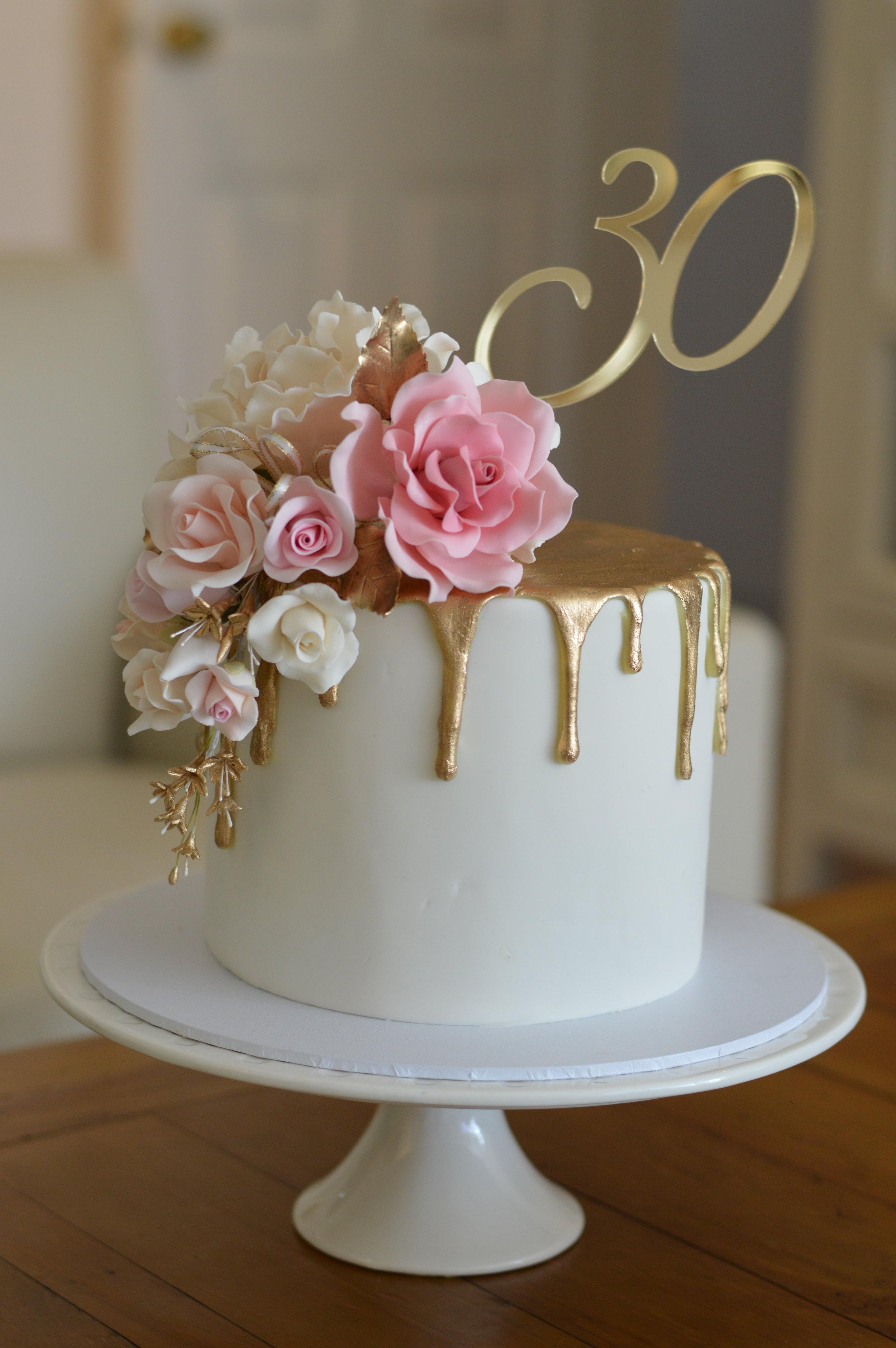 Cait's Pink & Gold Drip Cake.JPG