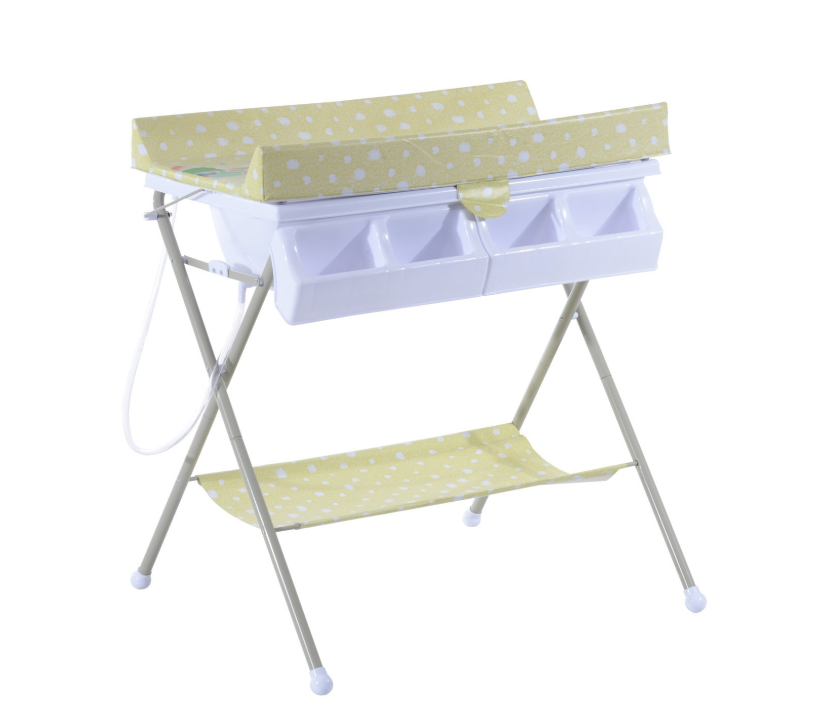 - Baby Changing Station + Bath, Nappies, Wipes And Bin — Change