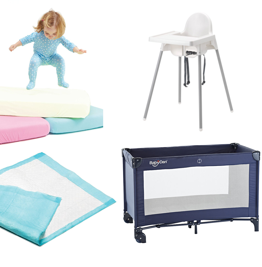 Cot and Mattress Bundle with Highchair   from £64.00