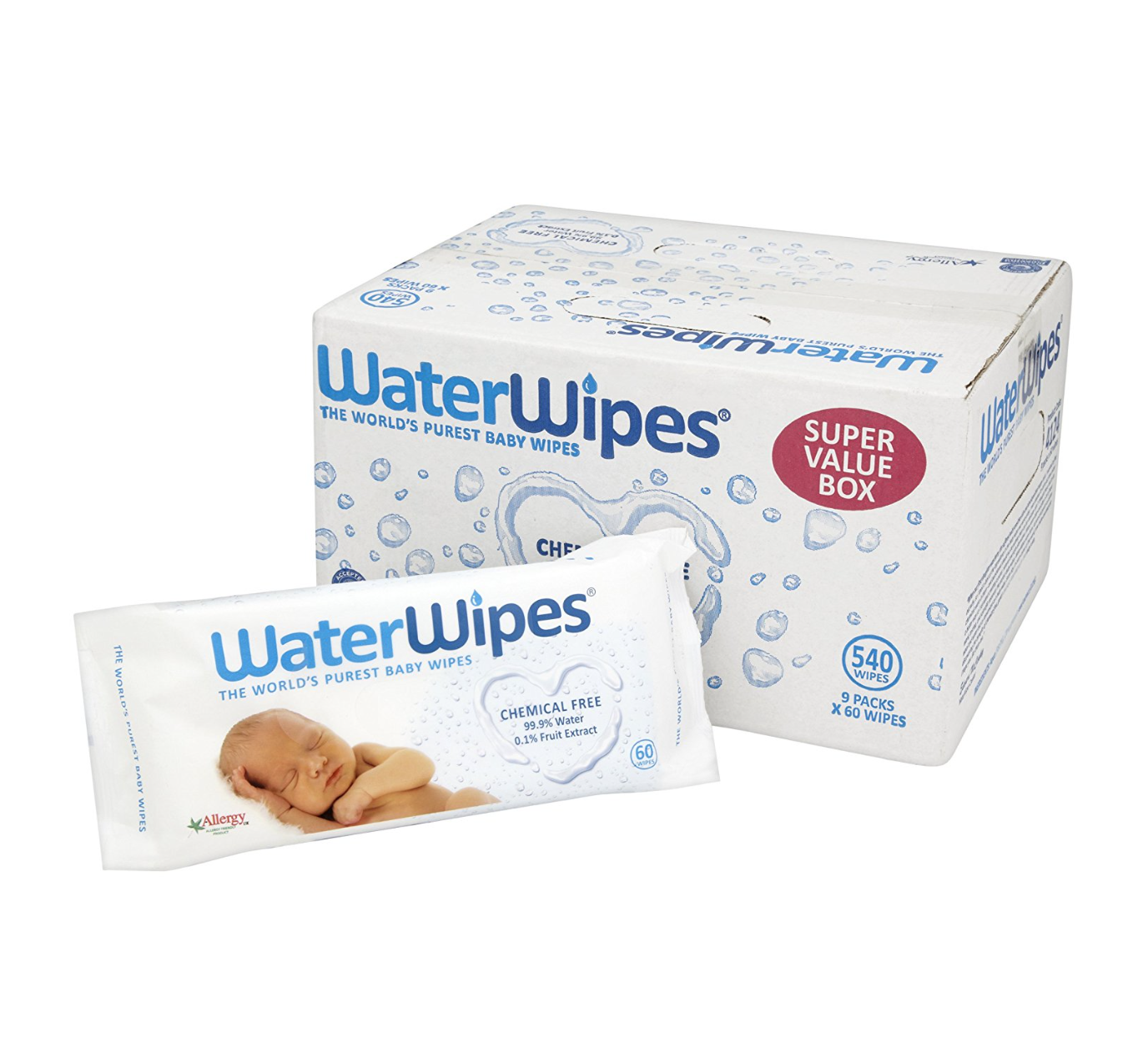 Water Wipes (Chemical Free) - 3    from £11.30
