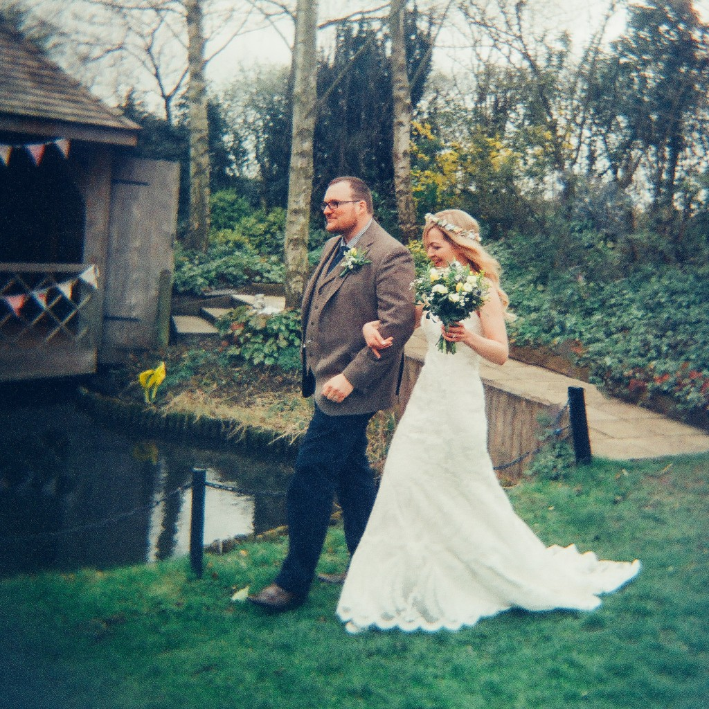 Holga 120N film portrait - wedding