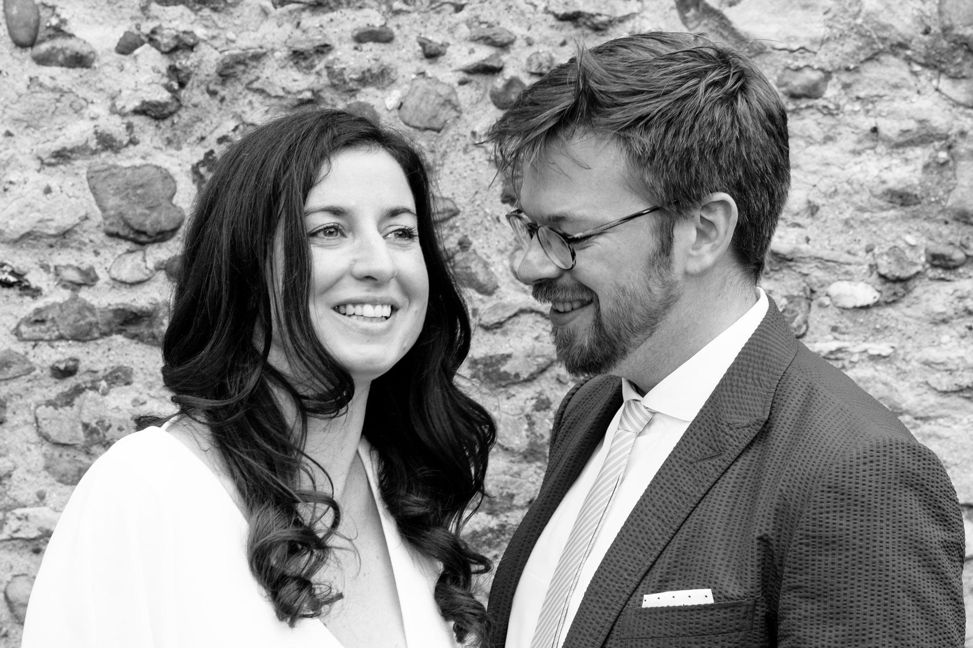 Black and white Cambridge wedding photography