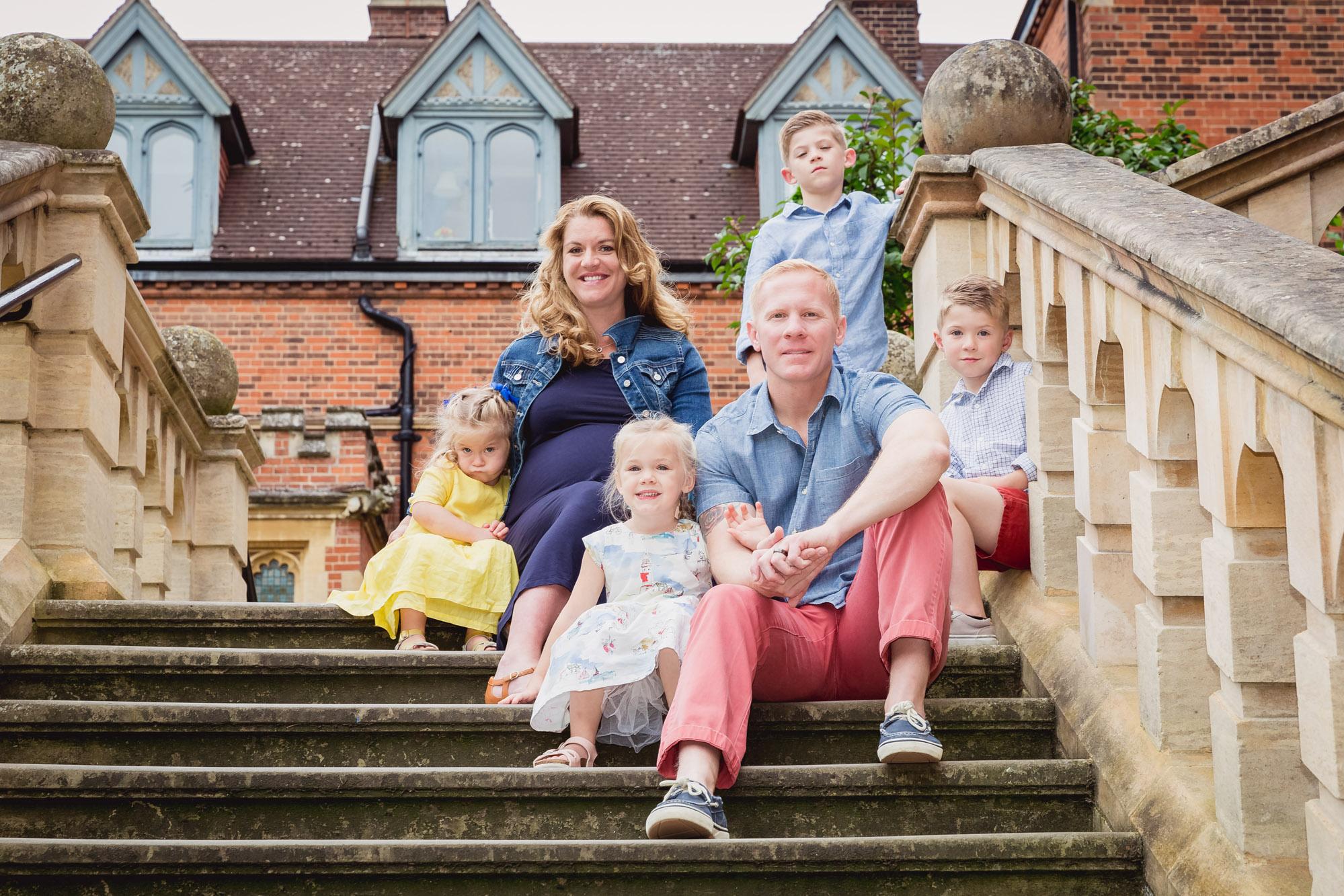 Family photography at Cambridge University
