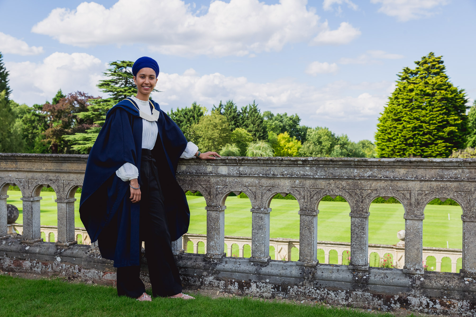 Madingley College graduation portrait