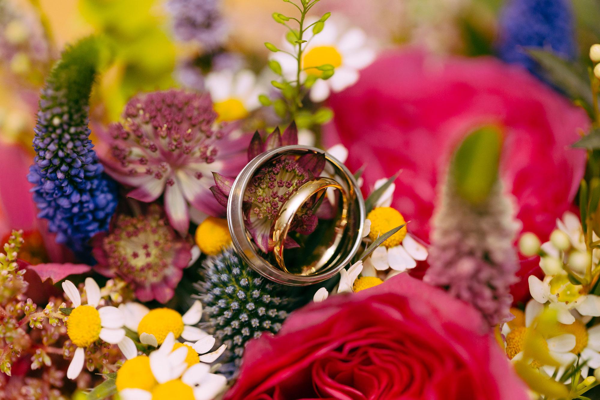 Wedding rings macro photography