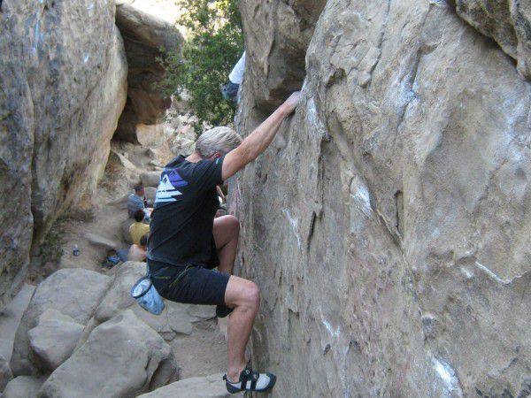 Stoney Point, a legendary rock climbing destination in Chatsworth, CA, is part clubhouse, part secondary home for rock climbers. (Northridge Patch/Antoine Abou-Diwan)