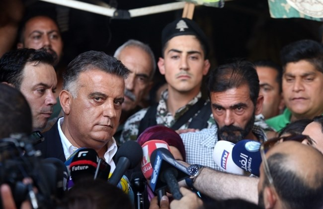 General Security head Maj. Gen. Abbas Ibrahim announces the retrieval of remains believed to belong to soldiers captured by Daesh (ISIS) in 2014. (The Daily Star/Hasan Shaaban)