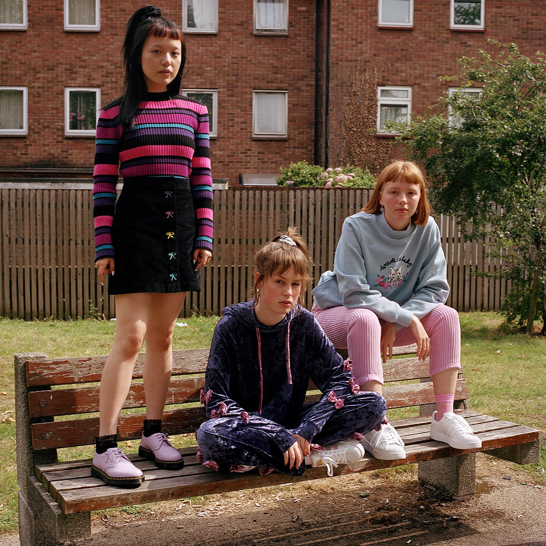 Morgan, Molly and Ruby. Walthamstow, 2017.