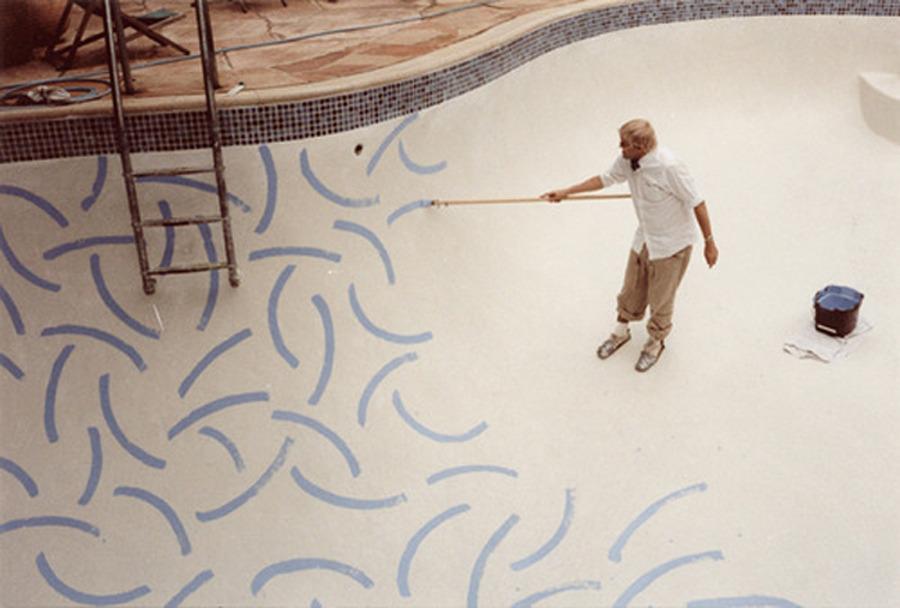 hockney pool painting