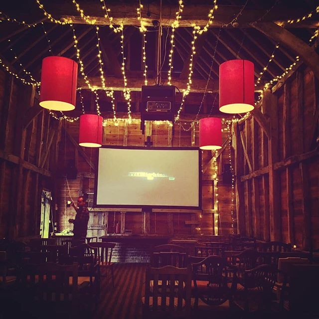 """Welcome inside our little pop up restaurant cinema. Here are some lovely photo's to show your around. This weekend is busy testing recipies and cooking up for our next events, Amelie and Bohemian Rhapsody. If you haven't been before, please add yourself to our """"First to hear"""" list, link in our bio. Tootle Pip for now ... #littlelightningcinema #llpopup #ameliemovie #bohemianrhapsodymovie #popupcinema #popupcinemas #filmclub #lovefilm #lovefilmlovevintage #filmnight #nightattheflicks #filmuk #popupcinema #nightatthemovies #movielover #mealandamovie #ukcinema #outdoorcinema #southdowns #midhurst #petworth #petersfield #chichester #southdownsnationalpark #southdownsway"""