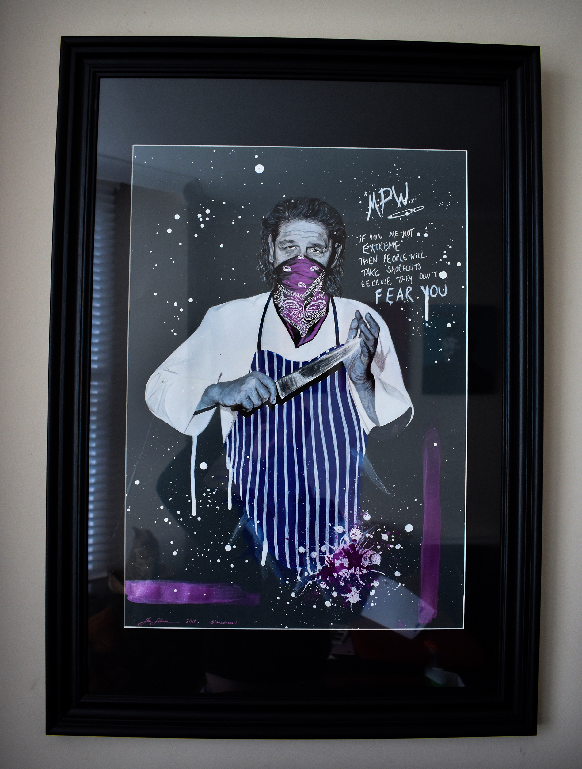 Marco Pierre White pop art portrait 8 framed.jpg